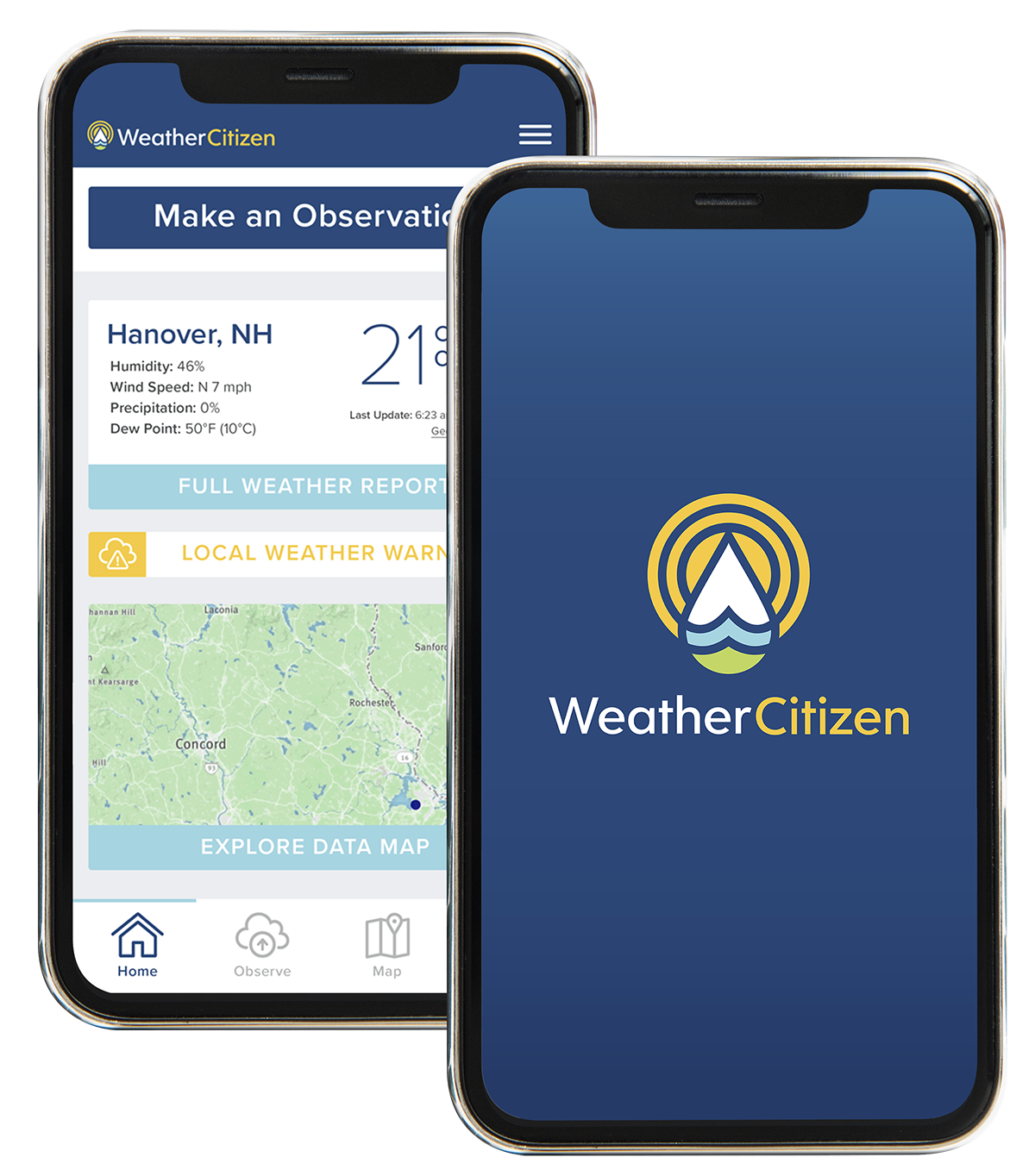 Download the WeatherCitizen app
